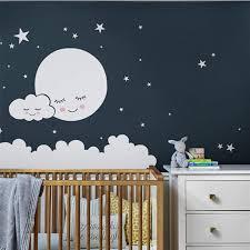 moon wall decal cloud nursery wall