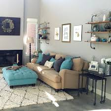 Living Room Turquoise Remodelling Simple Decoration