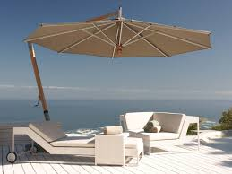 vanilla cantilever patio umbrella sunbrella with white outdoor furniture set