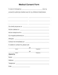 Form Consent To Treat Forms Parental Permission Letter Sample