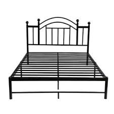 GreenHome123 Black Metal Platform Bed Frame with Headboard in Twin ...