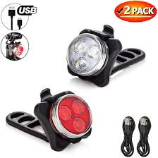Usb Bicycle Light Set Aukelly Bike Light Set Led Bicycle Light Bright Front Red Bike Headlight Free Rear Usb Rechargeable Bike Lights Usb Bicycle Lights Front Back 4
