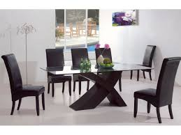 modern glass dining room sets. Modern Dining Table Glass Room Sets N
