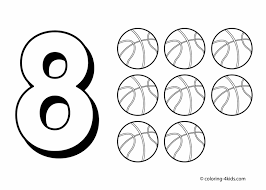 Small Picture Free Numbered Coloring Pages Printable Number Coloring Pages For
