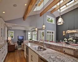 pendant lighting for sloped ceilings. Vaulted Ceiling Lighting Ideas Contemporary Kitchen Skylights Recessed Lights Mini Pendant For Sloped Ceilings G