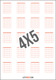 Blank Guitar Chord Charts Download Print