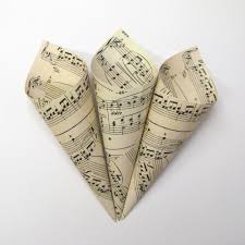 Paper Cones For Flower Petals Music Paper Confetti Cones For Your Real Flower Petal Wedding Confetti
