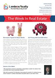 March 7 2019 Real Estate Consumer Network