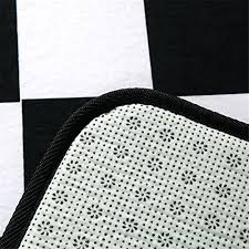 cozzy geometric checkers printed anti skid kitchen floor rugs runner area rug 1 7