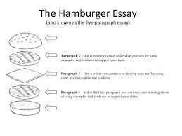 english the paragraph essay  9 the hamburger essay