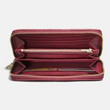 Lyst - Coach Accordion Zip Wallet In Gathered Leather in Red