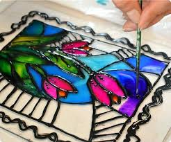 stained glass paint supplies faux once you have filled everything in let the panel sit flat until dry drying generally takes about min as alcohol inks
