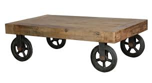 ... Furniture, Brown Rectangle Industrial Wood Coffee Tables With Wheels  Designs Ideas For Living Room Furniture ... Good Ideas