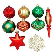 trim a home assorted shape shatterproof christmas ornaments gold