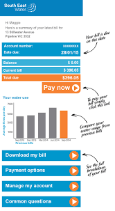 explain my bill south east water check out the online versions below and click on the pictures to see more detail you can pay your bill quickly the full bill manage your account