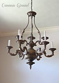 common ground faux painted chandelier