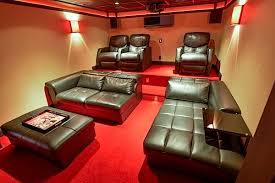 Rec room lighting Small Basement Rec Roomhome Theatre With Colored Led Strip Lighting photo Credit Tedxbrixton Decorating Ideas Featuring Led Strip Lights Usilluminations