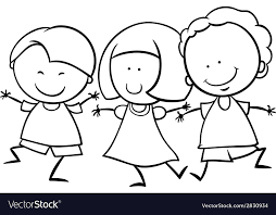 children coloring pictures. Exellent Coloring Multicultural Children Coloring Page Vector Image To Children Coloring Pictures D