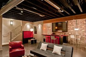 Unfinished Basement Design Property Best Inspiration Design