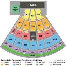 Darien Lake Performing Arts Center Seating Chart Darien