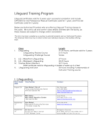 Lifeguard Resume Example For Examples Of High Duties Template 5