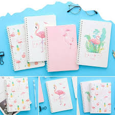 Kuhong 1Pc <b>Creative Kawaii</b> Stationery Flamingo <b>Notebook</b> A5 Note ...