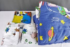 disney vintage toy story twin flat fitted sheet comforter set buzz woody flaw