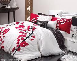 11 best Doona covers images on Pinterest   Bed linens, Bedroom ... & Logan Mason White Ruby Black Silver Yoko Oriental Queen Quilt DOONA Cover  Set   eBay Adamdwight.com