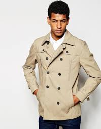selected selected homme cotton peacoat