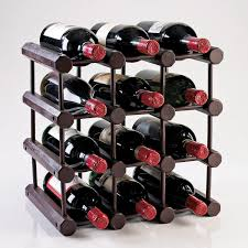 Wine Bottle Storage Angle Modular 12 Bottle Wine Rack Mahogany Wine Enthusiast