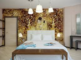 gold brown white bedroom scheme | Interior Design Ideas.