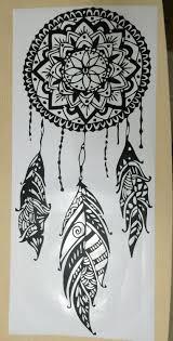 dream catcher art feather vinyl sticker boho dreamcatcher wall