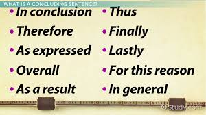 Concluding Sentence Definition Examples Starters Video