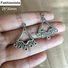 2018 bali chandelier connectors antique silver earring findings chandelier earring connectors multiple rings jewelry supplies from fashionista2016style