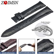 <b>ZLIMSN Double Crocodile</b> Skin Strap Quick Installation Brown Black ...