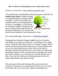 Boost Your Rankings On The Credit Score Chart