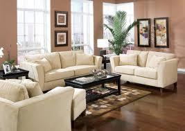 White Leather Chairs For Living Room Living Room Brown Woooden Table Brown Wooden Chairs White