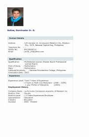 Sample Resume Format For Teaching Profession Inspirational