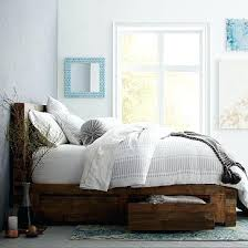 reclaimed wood bed frame. Full Wood Bed Frame Reclaimed Storage Natural Solid And Headboard