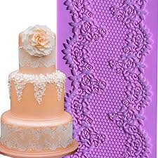 Amazoncom Anyana 12 Sugar Edible Floral French Empire Lace Cake