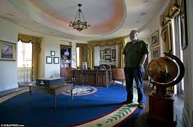 replica jfk white house oval office. tom simpson stands near a scale model of the presidentu0027s u0027u0027resolute desku0027u0027 replica jfk white house oval office