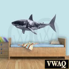 Shark Bedroom Decor Great White Shark Wall Decal Peel And Stick Ocean Wall Decor