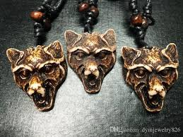 whole cool yak bone powder carved wolf head pendant necklace choker gift small pendant necklace personalized pendant necklace from dymjewelry826