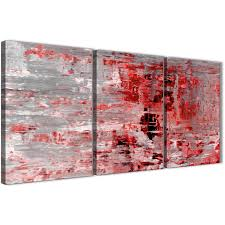 next set of 3 panel red grey painting kitchen canvas wall art accessories abstract 3414 display gallery item 1  on grey red wall art with 3 piece red grey painting living room canvas wall art decor