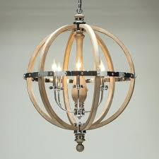 engineered wood stainless steel globe chandelier sphere and chrome barrel