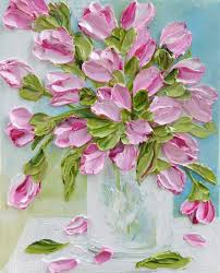 create your own tulip oil painting to match your decor your painting will look like