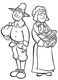 Small Picture Thanksgiving Pilgrim Girl Coloring Pages Free Here