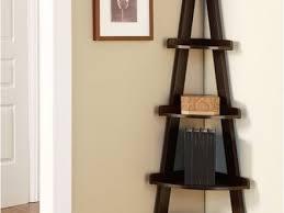 Wooden Ladder Display Stand 100 Dark Brown Corner Shelf Light Brown Wooden Triangle Corner 58