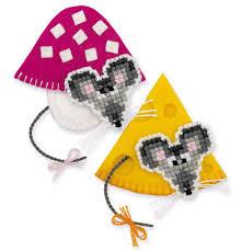 Cross Stitch Kit Magnets Mice Riolis Create It Yourself