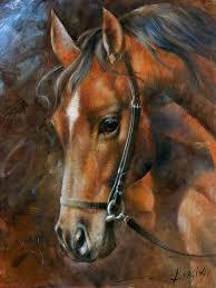 horse painting head horse by arthur braginsky